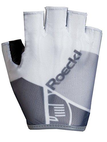 Roeckl Isola estate guanti da ciclismo dita corte bianco/grigio, Colore:weiß;formato:8 1/2