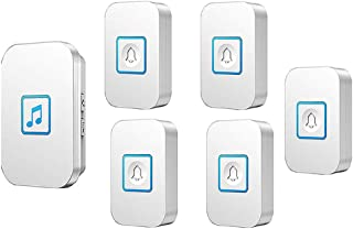 Wireless Doorbell, Waterproof Door Bell Chime Kit with special function,5 Push Button and 1 Receivers,300m Range,60 Ringto...