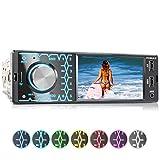 XOMAX XM-V419 Autoradio mit 4.1' / 10 cm Bildschirm I Bluetooth Freisprecheinrichtung I USB, SD, AUX I Anschlüsse für Rückfahrkamera und Lenkradfernbedienung I 7 Beleuchtungsfarben I 1...