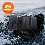 AddAcc Solar Charger 25000mAh Portable Power Bank Water Resistant and Shockproof with LED Light and 2 USB Ports 1 Type-C…