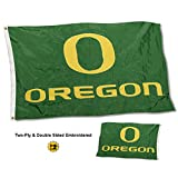 College Flags & Banners Co. Oregon Ducks Double Sided Nylon Embroidered Flag