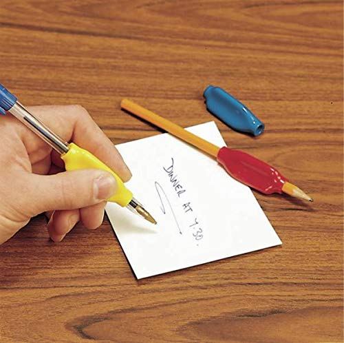 Homecraft PVC Pen, Pencil Holder, Soft and Comfortable Handwriting Grip, Easier Grip and Control When Writing, Ideal for Children and Adults, 8mm Diameter, Pack of 3(Eligible for VAT relief in the UK)