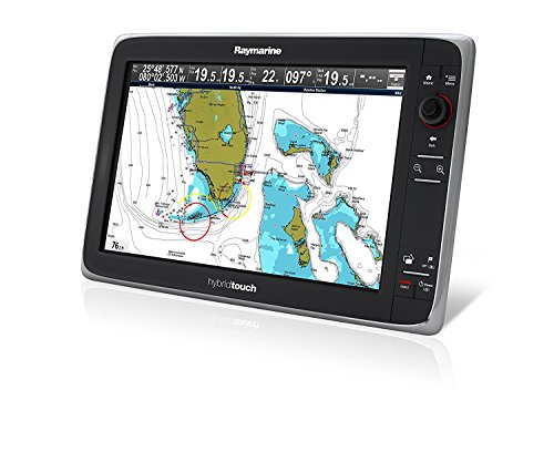 Raymarine e165 15.4-Inch Hybrid Touch Multifunction Display Marine GPS System with European cmAP Essentials Chart…