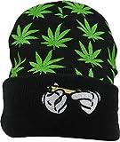 UTALY Weed Marijuana Beanies-Hat Rolling-Up Skully Cap (Style 01)