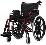 JINGQI Aleación de Aluminio Silla de Ruedas Plegable Ultraligera Viajes Ancianos portátil obesos Ancianos discapacitados Multi-función de la Mano Patinete