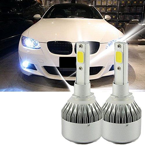 Lot de 2 ampoules LED C6 H7 pour phare de voiture H7 6000 K 36 W pour phare antibrouillard de voiture, lumière extérieure super lumineuse