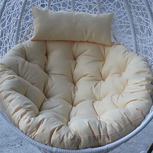 DIELUNY Cojín para silla de columpio, grueso Nest Single Bird's Nest Cesto colgante huevo hamaca Cojines de silla extraíble lavable azul marino 100 x 100 cm
