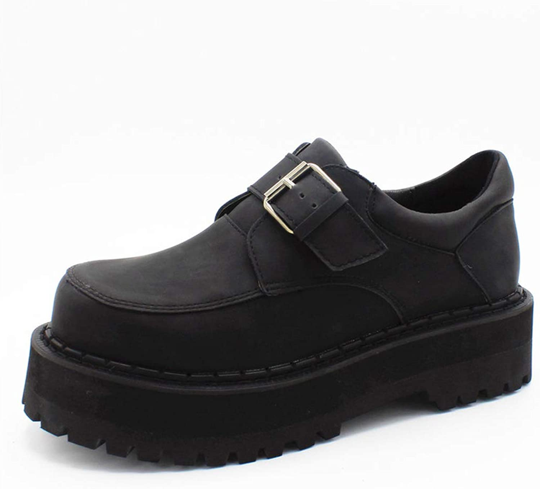 DANDANJIE Damenschuhe Gummi Fallen Winter Comfort Oxfords Flache Ferse Runde Zehen Schwarze Schuhe