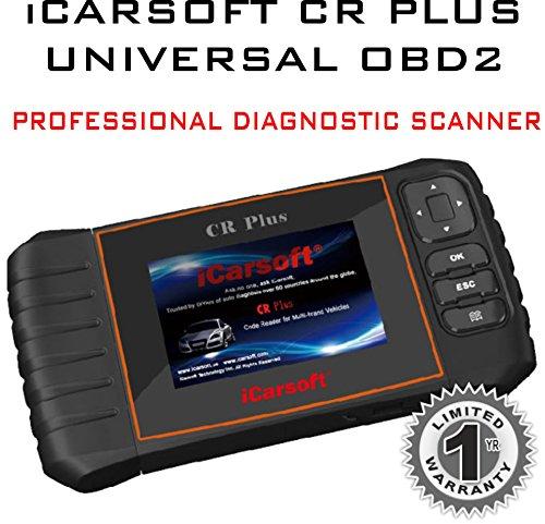 iCarsoft CR Plus profesional Universal OBD2escáner para Multi marca vehículos leer claro Borrar Códigos de Error