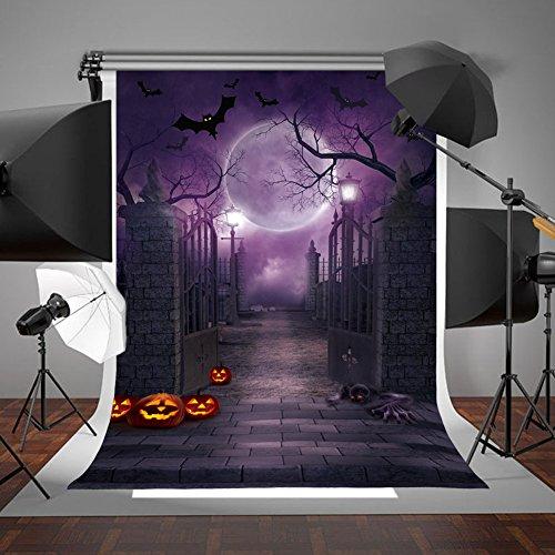 Ourwarm - Sfondo per foto di Halloween, 5 x 17,8 cm, sfondo per foto di Halloween, decorazioni per feste di Halloween, per studio fotografico