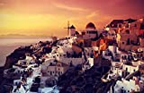 Bilderdepot24 Poster selbstklebend Santorini im Abendrot -