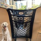 3-Layer Car Mesh Organizer, Seat Back Net Bag, Barrier of Backseat Pet Kids, Cargo Tissue Purse Holder, Driver Storage Netting Pouch(Upgrade Stretch Length)