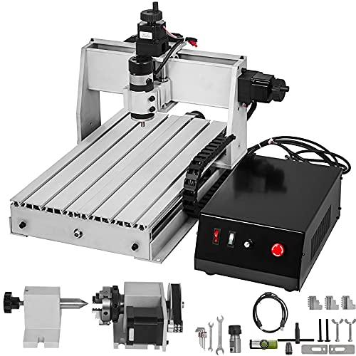 BananaB 3040 CNC Graviermaschine 4 Axis Machine Kit 300x400mm Pro Milling Machine CNC Engraving Machine 300W MACH3 CNC Router Machine mit USB laser Graviermaschine für Metall, Glas, Holz, Stein