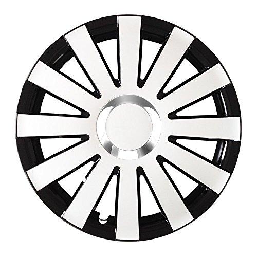 15 Zoll Radkappen ONYX Schwarz-Weiß (Farbe und Größe wählbar!)