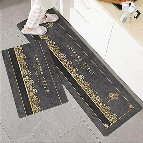 Alfombra moderna de la puerta de la alfombra del dormitorio de la sala de estar, alfombra del piso de la cocina, alfombra del balcón del pasillo, alfombra del piso antideslizante del baño A7 60x180cm