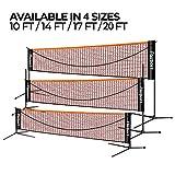 FBSPORT Portable Badminton Net Set, Adjustable Height Tennis,...