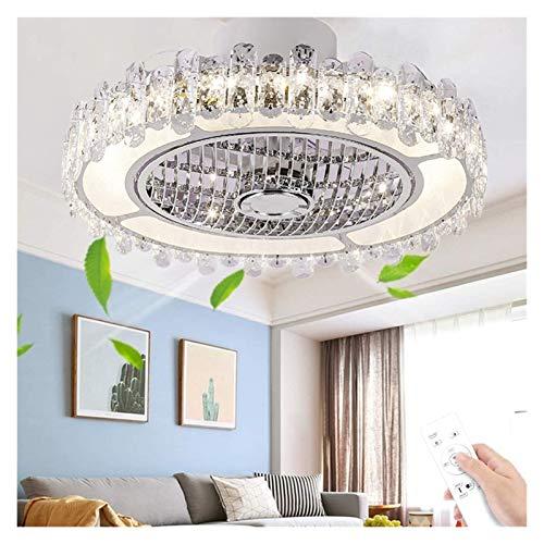 Ventiladores de techo con luz Luz De Techo LED De Cristal Regulable Con Control Remoto, Lámpara De Techo Con Iluminación Para Dormitorio, Sala De Niños, Lámpara De Ventilador Tranquilo ( Color : 3# )