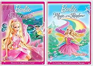 Discover Magical New Land in Fairytopia + Magic of the Rainbow Barbie Cartoon DVD Double Feature Bundle 2 Pack