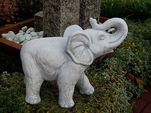 Mehrholz Steinfigur Elefant grau patiniert mittel Weißbeton