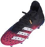 adidas Predator Freak .2 FG, Scarpe da Calcio Uomo, Core Black/Ftwr White/Shock Pink, 42 2/3 EU
