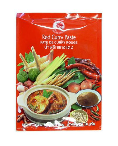 Pasta de curry de gallo, rojo, paquete de 6 (paquete de 6 x