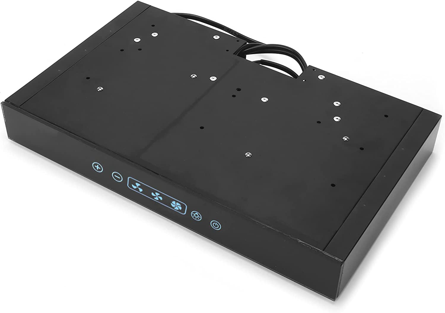 Dpofirs Ventilación sin ductos de la Gama de la Campana extractora de Cocina de 12V, con la luz LED de la Pantalla táctil para la Cocina de la Caravana de RV