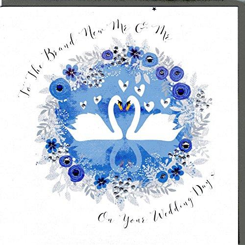 Wendy Jones-Blackett Glückwunschkarte zur Hochzeit veredelt mit Kristallen und Glitter. Eine sehr hochwertige und originelle Hochzeitskarte, auch für Geschenkgutschein oder Geldgeschenk. WP118