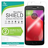 (2-Pack) RinoGear Screen Protector for Motorola Moto E4 Plus Case Friendly Motorola Moto E4 Plus Screen Protector Accessory Full Coverage Clear Film