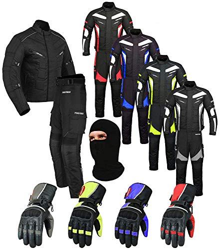 Pro First pour Moto en Cordura pour Homme Pantalon Textile CE blindé pour Moto avec Gants M Jacket 32 Trouser