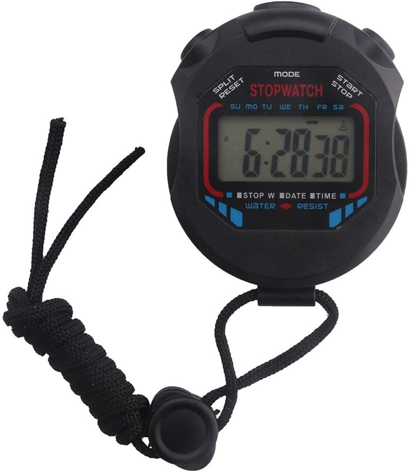 Handheld Stopwatch shopping Digital LCD Chronograph Counter Popular overseas Timer Sports