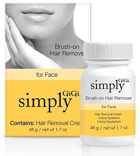 Simply GiGi Brush-on Facial Hair Removal Cream, 1.7 oz
