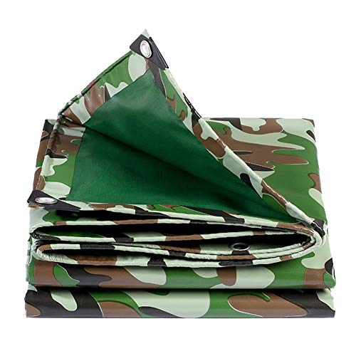 ALGFree Tarpaulin Sheet Patio Furniture Cover Outdoor Chair Table Cover Rectangle Waterproof Tarpaulin Durable Tear Resistance, 23 Size, Customizable (Color : Green, Size : 4x5m)