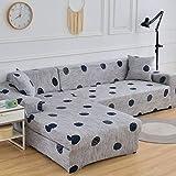 Funda de sofá con patrón geométrico Fundas de sofá elásticas para Sala de Estar Funda de sofá en Esquina Forma de L Necesita Comprar 2 Piezas de Fundas A17 de 3 plazas