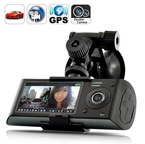 High-Tech Place Dashcam caméra double auto embarquée enregistreur avec GPS logger et capteur gravité