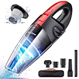 Audew Handheld Vacuums Cordless, Portable Handheld Vacuum Cleaner with Powerful Suction, 120W Rechargeable Car...
