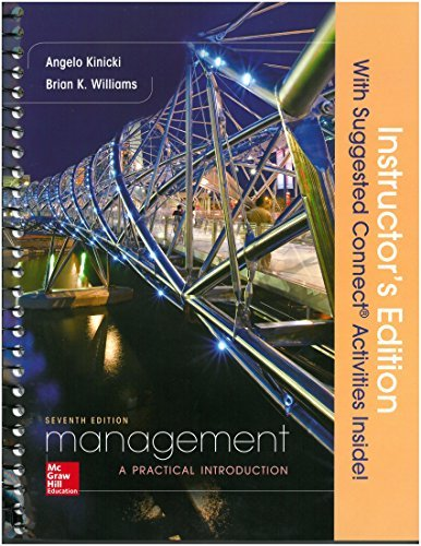 Management 7th. Instructor's Edition Spiral; 2016 Kinicki