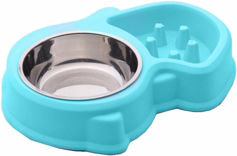 KTYX Slow Food Dog Bowl Slow Food Bowl Antimite Stop Food Bowl Plastic Dog Bowl Pet Bowl (color   bluee)