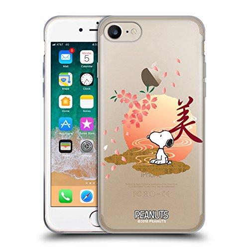 Head Case Designs Oficial Peanuts Sakura Snoopy Oriental Carcasa de Gel de Silicona Compatible con Apple iPhone 7 / iPhone 8 / iPhone SE 2020