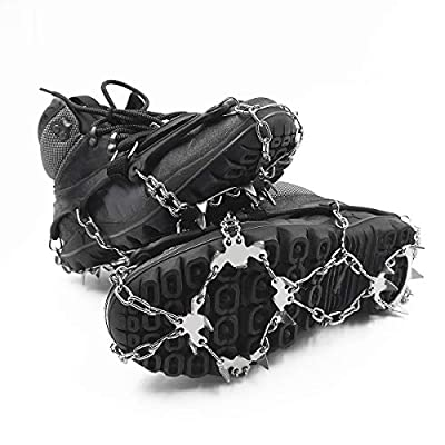ROCONTRIP Traction Cleats Ice Snow Grips Anti Slip Stainless Steel Spikes Crampons for Footwear M/L/XL (XL-Extra Large)