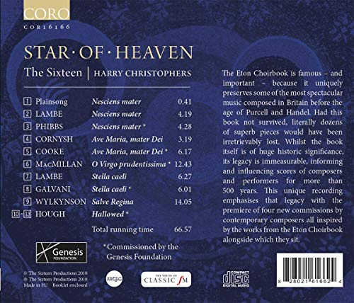 Star of Heaven, the Eton Choirbook Legacy [The Sixteen; Harry Christophers] [Coro: COR16166]