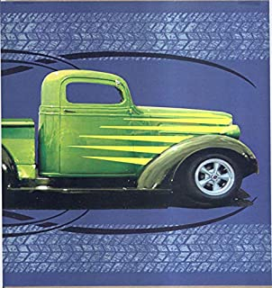 Hot Rod Trucks Blue Ford Chevy Wallpaper Border
