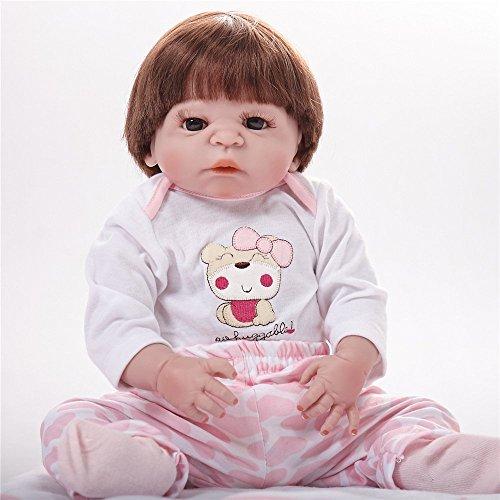 Simulación Reborn Baby Silicone Doll Reborn Doll Toy 55Cm, A