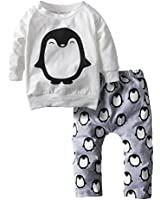 Yinson Baby Toddler Boys Loose Fit Tops + Pants Pajamas Sets