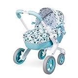Smoby- Cochecito para muñecos, Color azul (251307)