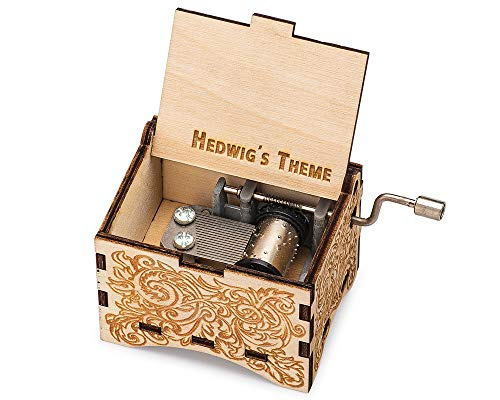 TheLaser'sEdge, Personalizable Music Box, Music of Hedwig's Theme, Laser Engraved Nouveau (Standard)