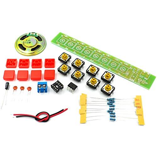 1SET NE555 Bauelement Elektronik E-Piano Orgel Modul DIY Kit Lernen Sie elektronische Grundlagen, Kinderlabor
