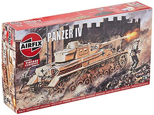 Price comparison product image Airfix Panzer IV F1 / F2 Tank 1:76 Vintage Classics Military Plastic Model Kit A02308V