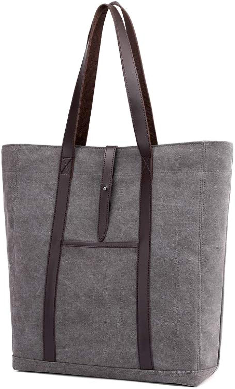 NDYE Canvas Women Handbags Large Capacity Solid Female Single Shoulder Bag Casual Tote Bucket