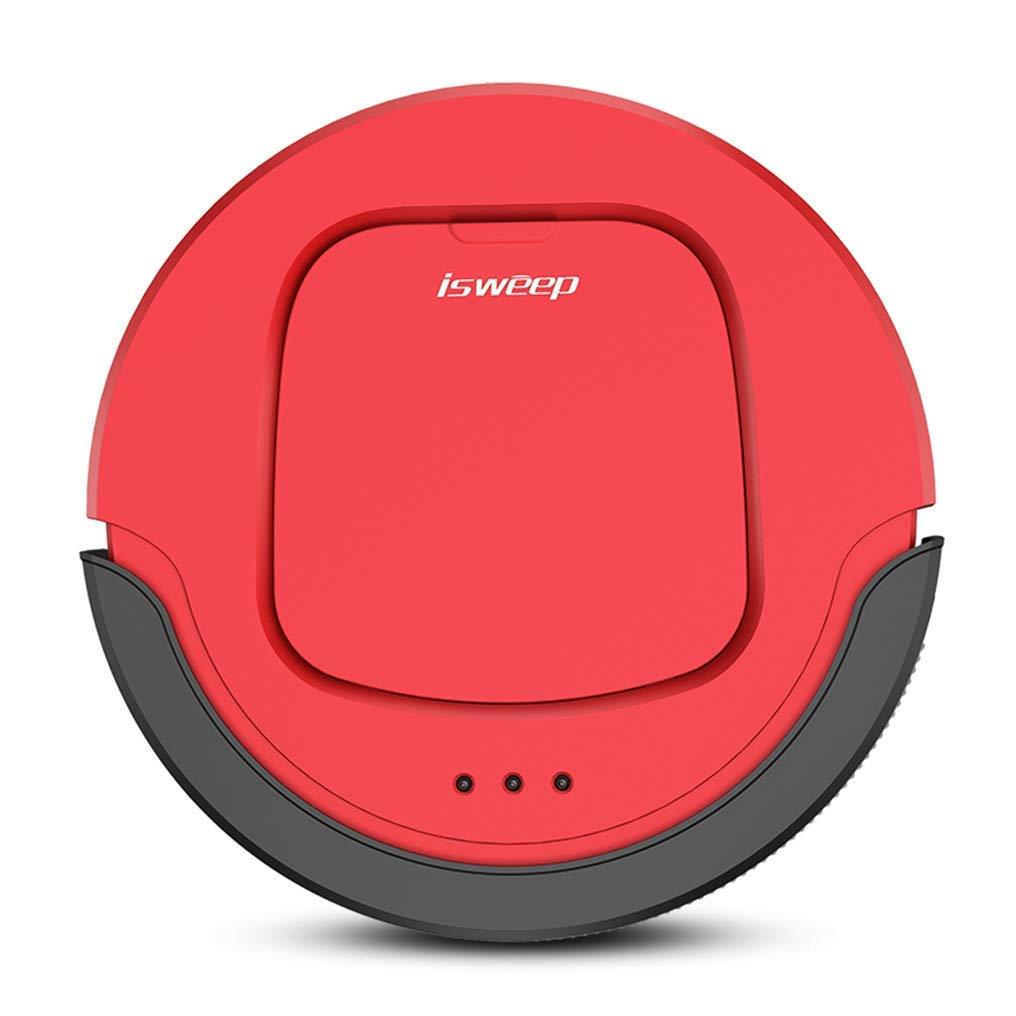 DPZCHI Robot Aspirador, Succión Fuerte, Gran Capacidad, Carga Automática Robot Aspirador Ruta De Limpieza Óptima Mediante El Sistema De Mapeo Inteligente, Rojo: Amazon.es: Hogar