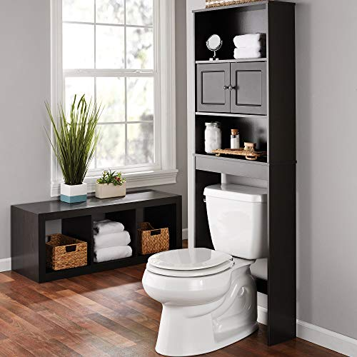 Mainstays Bathroom Storage Over The Toilet Space Saver with Three Fixed Shelves - Espresso